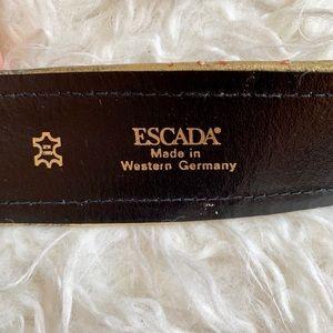 Escada Accessories - Vintage Escada Suede & Leather belt